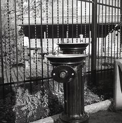 Vattenpost (rotabaga) Tags: sweden sverige svartvitt lomo lomography lubitel166 ilford blackandwhite bw bwfp mediumformat mellanformat 6x6 120 twinlens borås