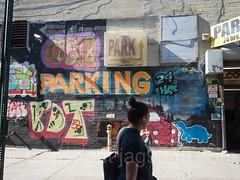 Parking Mural, Inwood, New York City (jag9889) Tags: 10av 10thavenue 2017 20171010 garage graffiti inwood inwoodite manhattan mural ny nyc newyork newyorkcity outdoor painting parking streetart tagging tenthavenue usa unitedstates unitedstatesofamerica wahi wall woman jag9889 us