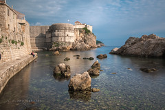 Dubrovnik, Croatia - Casey-Herd-8298 (www.caseyhphoto.com) Tags: adriatic croatia d800 dubronik europe nikon medieval wall history old nikkor 1635f40 nd ndfilter neutral density filter long exposure slow shutter speed travel traveling traveler traveller travels traveled sea mar water agua rocks adventure adventurer adventuring explore explorer exploring tourism tourist vacation holiday coast discover discovering wanderlust wandering artist seascape sky cielo casey herd photographer