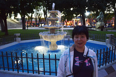 Isabelle in Prescott (Sotosoroto) Tags: prescott arizona courthouseplaza dusk evening fountain