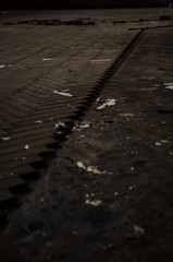 broken floor (Stefan_Brinkmann) Tags: hotel lostplace abstract dark noperson urban old pavement shadow pattern texture vintage floor city