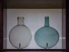 At the Bottle Bank (Steve Taylor (Photography)) Tags: bottle vessel museum blue white uk gb england greatbritain unitedkingdom london huge big round glass