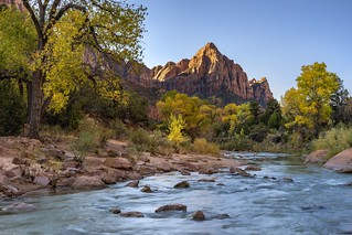 *Zion, Watchman and Virgin River in autumn*