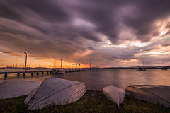 Sunset at Belmont (lauralimber) Tags: belmont nsw boats sunset pier wharf australia longexposure ndfilter d810