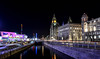 the pier head at night (paul hitchmough photography 2) Tags: nightphotography longexposure pierhead liverpool rivermersey lighttrails stars paulhitchmoughphotography nikond800 nikonphotograhy colurs reflections architecture