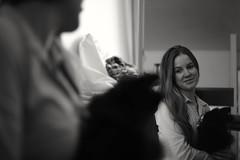 Autoportrait (gwendoline.lereste) Tags: portraiture portrait autoportrait lapin bunny rabbit noiretblanc blackandwhite blancoynegro smile sourire miroir mirror reflet reflection nikon nikond810 d810