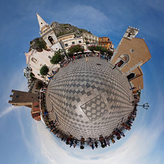 Taormina (sonic182) Tags: belvedere di piazza ix aprile taormina italy sicily stereographic stereographical projection little planet panorama