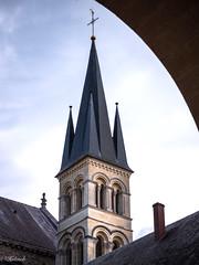 clocher de l abbaye st remi (Hélène Baudart) Tags: clocher abbaye reims