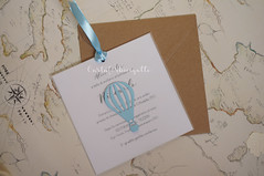 Inviti battesimo handmade - Baby shower christening invitations (CartaForbiciGatto) Tags: inviti battesimo handmade baby shower christening invitations partecipazioni fatto mano made itly hot air balloon palloncino mongolfiera orsetto orsacchiotto teddy bear boy girl