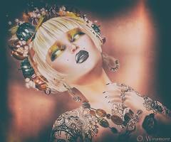 Zibska, Très Beau, Slipper & .::LUNA::. @68Main (Ombrebleue Winsmore) Tags: zibska tresbeau luna slipper jewels autumn orange makeup nails 68main