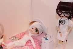 Nursing School Woes (Dollymama2015) Tags: pullip dal doll dolls nurses rn hospital patient bandages isul glasses uniform nurse nursing student medical treatment instructor nursingschool clinical