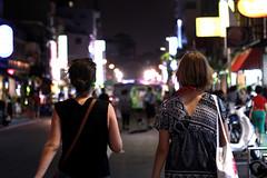 Night walk - Kaohsiung (Chapo78) Tags: taiwan kaohsiung night walk street girl