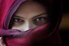 Nathalie (the eyes) (Philip Van Ootegem) Tags: young woman eyes portrait interior veil
