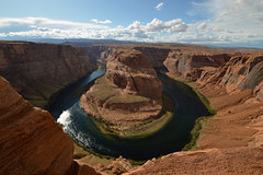 Horseshoe Bend (mugnainimarco) Tags: usa america unitedstatesofamerica holiday vacanze usaontheroad landscape beautiful nature colors hotday beautifulday horseshoebend arizona colorado rivercolorado grandcanyon water veryhigh vertigo vertigine spettacolare wow senzafiato
