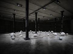 Drifting (Steve Taylor (Photography)) Tags: inwetinyougodo 2015 nigerian otobongnkanga rope balls art sculpture concrete column uk gb england greatbritain unitedkingdom london vigenette perspective stark tatemodern