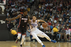 Ben Simmons Behind the Back (Kevin VanEmburgh Photography) Tags: basketball heat hoops kevinvanemburghphotography nba sixers sports sprintcenter philadelphia76ers miamiheat action