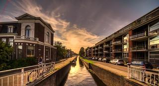 Sunset in Haarlem.