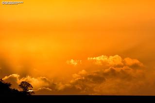 Sahara sand sunset as Ophelia approaches