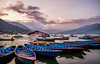 Fewa Lake (mizan3950) Tags: lake nepal travel sunset pokhara golden hour boat boats nikonflickraward