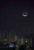 IMG_5700 (Ethene Lin) Tags: 月亮 金星 夜景 大樓 高壓電塔 台北市