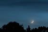 Moon Sliver (Runninghounds Photography) Tags: moon sliver earthglow bluelight evening overcast nikond300 nikkor70200f28g tripod longerexposure southcentralpa pennsylvania ruralpennsylvania franklincounty