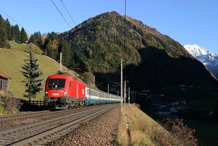 ÖBB 1116 159 + EC trein - St Jodok