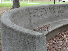 ETCHED IN STONE A MEMORIAL BENCH (Visual Images1 (Thanks for over 4 million views)) Tags: hbm bench benchmonday stone binghamton newyork