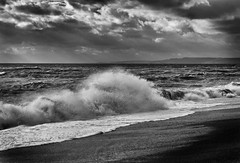 Waves, light and shadow, Dorset (jonnorthf64) Tags: coastline drama seascape beach blackandwhite freshwater dorset coast jurassic photography monochrome sea stormy waves