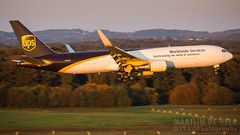 N302UP (Tynophotography (Martijn de Heer)) Tags: eddk cgn cologne airport bonn sunset ups 767300f n302up 767 763f 767f boeing 2017