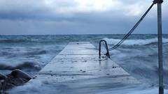 The Blue Sea (jurgenkubel) Tags: brygga jetty brücke blue sea see balticsea ostsee östersjön visby kallbadhuset gotland sverige schweden sweden olympus storm sturm vågor waves wellen blå blått blau seascape landskap landschaft landscape