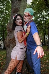 London Zombie Walk 2017 XXVIII (Lee Nichols) Tags: londonzombiewalk2017 worldzombiedaylondon2017 worldzombieday zombie zombies zombiewalk stmungos photoshop london wzd2017 doctor nurse