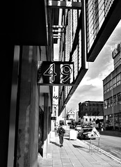 49 (LozHudson) Tags: blackwhite mono monochrome northernquarter numbers fujifilm fujix100s x100s manchester street streetphotography hive thehive