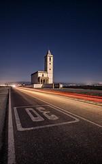 Iglesia de las Salinas de Cabo de Gata - Almería (Spain) (Javier Álamo Andrés) Tags: church cabo gata almeria spain landscape night lights canon javier alamo andres urban road andalusia europe