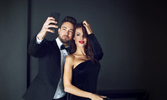 Why Do Influencers Influence? (americanoize) Tags: fashion influencer influencers travel beauty wellness lifestyle couple celebrity dress hollywood famous taking selfie talent people red fame carpet film elegant rich vip love spy festival tuxedo gala dinner jacket oscar agent secret man woman cocktail smartphone male female backstage caucasian lips suit bow tie hungary