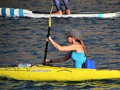 Yellow kayak (thomasgorman1) Tags: kayak yellow woman paddle river race dam water canon recreation fun sunny colors colorful outdoors arizona colorado