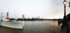 Riverama #37 (Мaistora) Tags: river thames london temple embankment victoria boat boats panorama streetlight lamp pier riverside bridges eye skyline scape landscape riverscape water ripples wavers tide wake phone mobile samsung galaxy s7 samsunggalaxys7 android edit process postprocess app snapseed