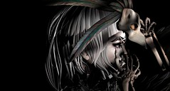 Undead (ℰżιℓι) Tags: sanarae uber avatar bento bird catwa ed euphoric fallen hair maitreya makeup secondlife shihair skeletonbird sl wings feathers zibska