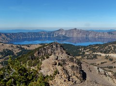 Crater Lake & Wizard Island from the Mt Scott Trail (dinannee) Tags: