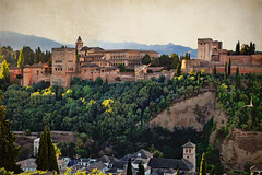 View of the Alhambra (Jocelyn777) Tags: landscape cityscape architecture buildings monuments historicsites alhambra spain travel textured andalucia granada