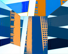Magnetism (Kevin Quinn Art) Tags: abstract color colorful nikon city atlanta urban modern new different art emergingartist buildings shapes blue orange patterns lines artistic