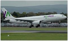 (Riik@mctr) Tags: manchester airport egcc ecmny tree grass airplane sky wamos air airbus a330 msn 261 9mazl gsman