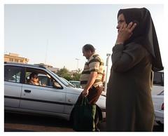 (muellerinnen-art) Tags: teheran hijab street cellphone woman chat iran 2017 motorola persia persien farsi photoshop