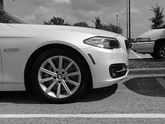 Two White Vehicles (jHc__johart) Tags: parkinglot vehicle auto automobile suv tire wheel cloud sky pole