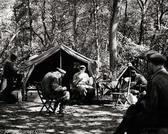 German Camp (johnlishamer.com) Tags: 120 2017 6x7 bw fujiacros100 lishamer mamiyarb67prosd midwayvillagemuseum reenactment reenactors rockfordil seiko90mmf35kl wwiidays worldwariidays film history johnlishamercom mediumformat