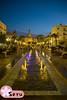Plaza del Ayuntamiento de Cádiz (Seruru) Tags: plaza square agua water fuente fountain gente people blue hour hora azul ayuntamiento town hall