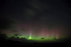 Northern Lights 1 of 2 (Steve Balcombe) Tags: aurora northern lights staffin bay skye scotland uk