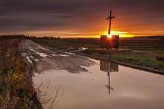 Podlaskie drogi (Greg Wozniak) Tags: sunrise sunset road autumn seasin wilderness podlasie podlaskie polska poalnd cross christianity chapel shrine weather