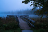 Fishing Pier at Dawn 20170929-DSC03727 (Rocks and Waters) Tags: itasca itascastatepark lakeitasca minnesota dawn bluehour water dock pier trees grass sonyalpha a7rii loxia loxia250