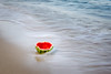 Watermellon on Beach (Gene1876) Tags: beach water watermellon