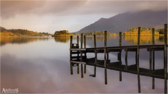 Derwentwater Autumn Sunrise, English Lake District (AdelheidS Photography) Tags: adelheidsphotography adelheidsmitt adelheidspictures unitedkingdom uk greatbritain goldenhour britain jetty ashness derwentwater landscape lakedistrict lakeland lake sunrise dawn reflection autumn fall mountains england engeland inglaterra ashnessjetty water lakeside serene